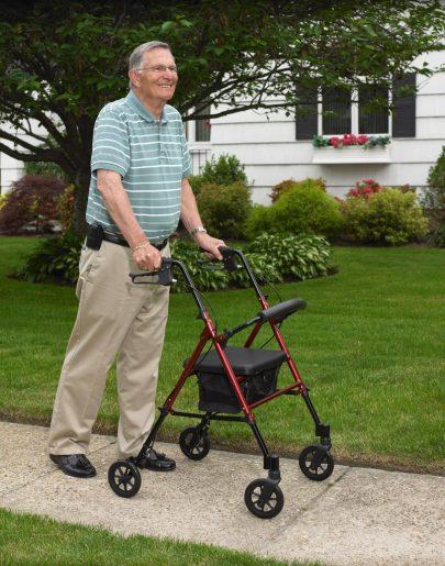 Folding Four wheel seat walker