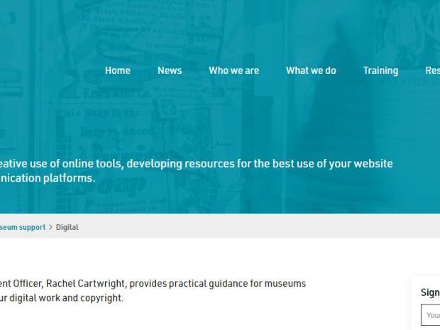 A screenshot of the South West Museum Development website