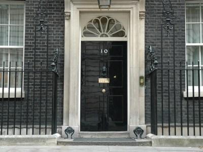 Downing Street door