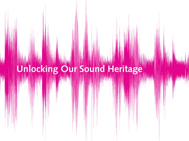 a pink sonograph with the words 'Unlocking your sound heritage'