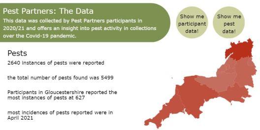 a screenshot of pest data report