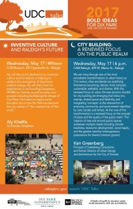 UDC Talks: 2017 Bold Ideas for Dix Park @Noon and @Night @ City of Raleigh Museum  | Raleigh | North Carolina | United States