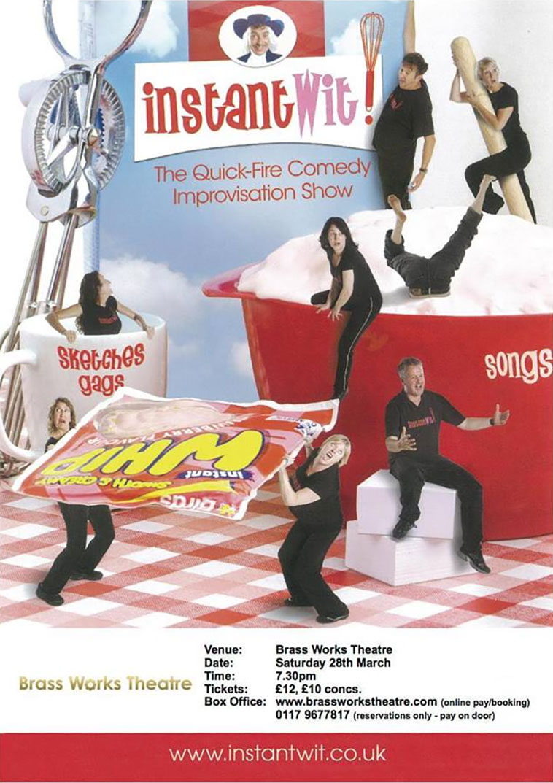 Instant Wit Brass Works Theatre flyer 2015