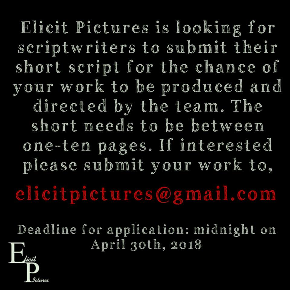 Short film scripts for Elicit Pictures