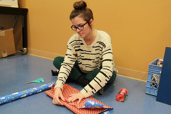 Wrapping presents is a great way of keeping the mystery aline, whether you are wrapping a box or clothes.Photo Credit: Hailey Basner