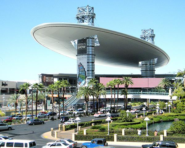 Las Vegas's own Fashion Show Mall adds a twist to your cliche mall experience with a runway that hosts fashion shows every weekend and the mall's famous landmark, the Cloud.Photo courtesy of Coolcaesar via Wikipedia