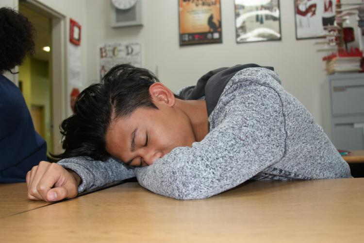 "Staying up late is a common thing between students. For sophomore Delmar Bautista this is something he struggles with every night. ""My phone keeps me up at night because of all the interesting things that go on,"" Bautista said."