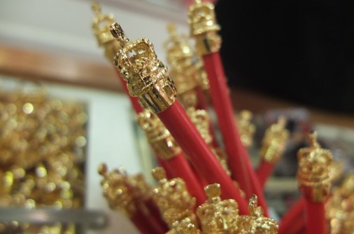 buckingham palace gift shop queens gallery gold pencils royal souvenir