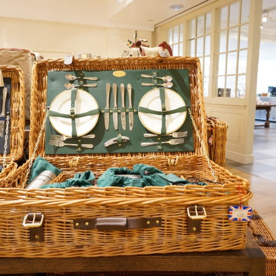 Fortnum & Mason has a huge selection of classic stocked picnic baskets.