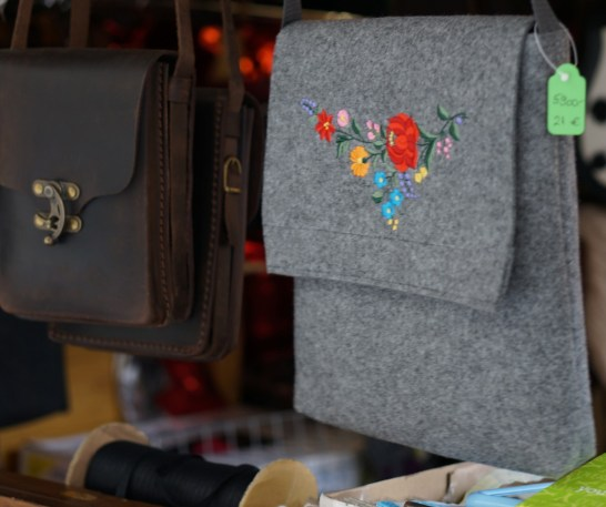 budapest christmas market gifts souvenir hungarian embroidery bag handmade craft christmas market fair