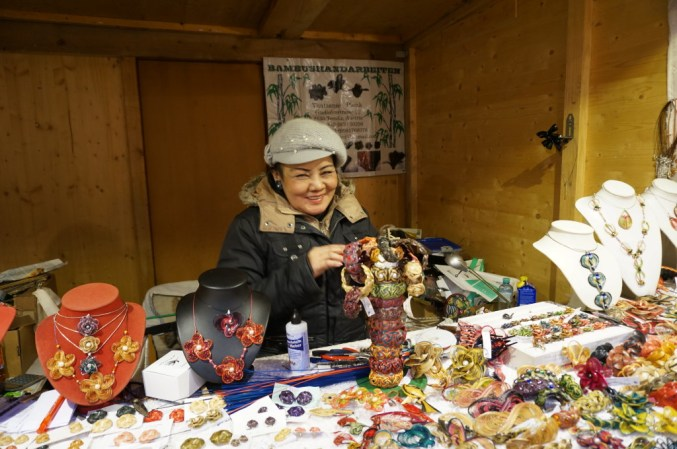 Vendor at Freyung, one of the best Vienna Christmas Markets.