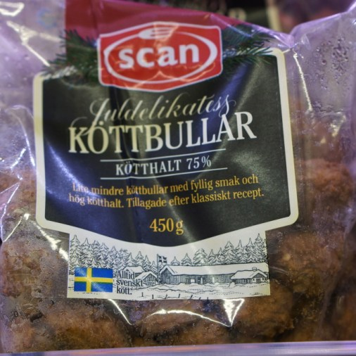 swedish meatballs, frozen