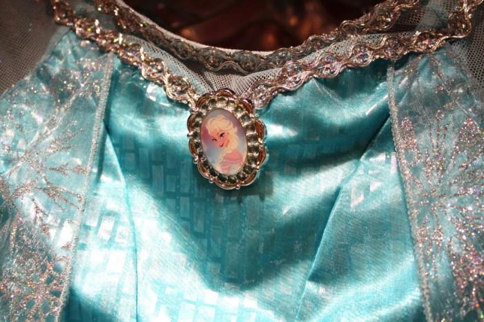 Elsa costume dress from Frozen, detail of brooch
