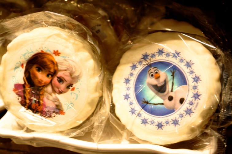 rice krispie treats with edible frozen stickers