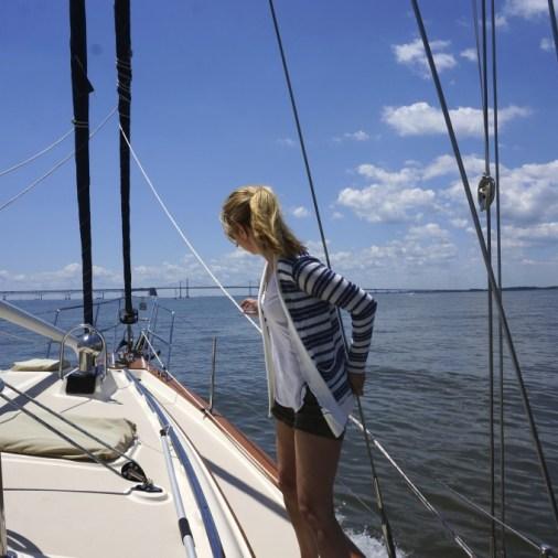 sailboat on water chespaeake bay