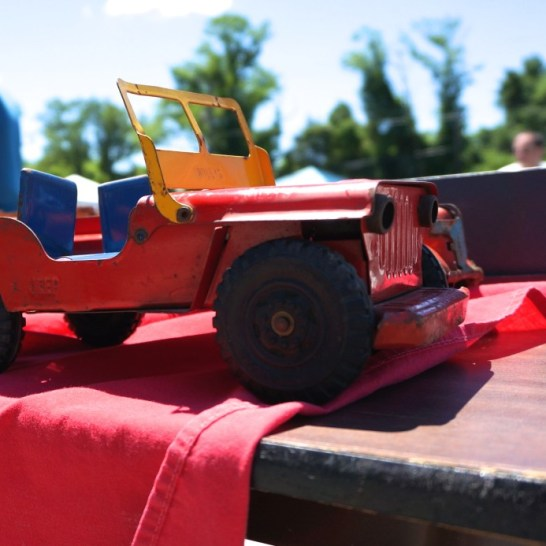 rusty aluminum toy truck