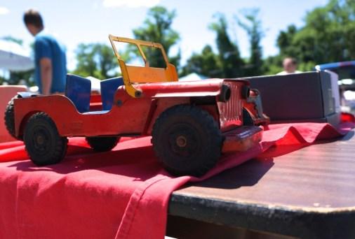rusty aluminum toy truck