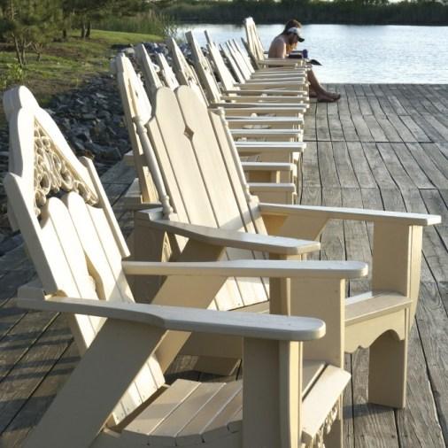 Adirondack chairs summer views