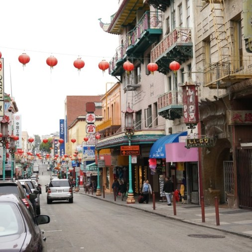 Stroll under the lanterns to visit unique Chinatown shops and restaurants.