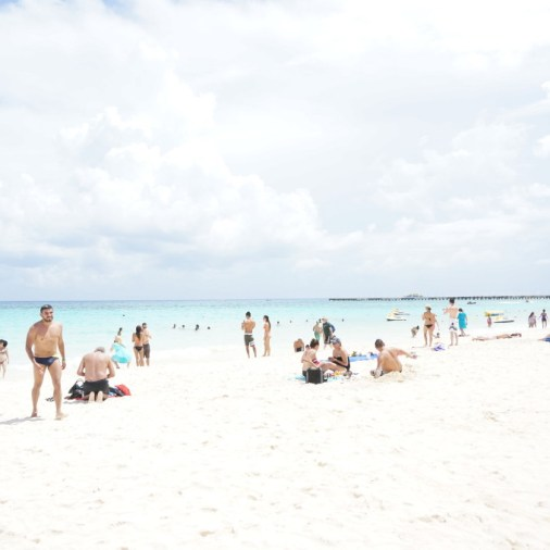 beach playa del carmen mexico ocean