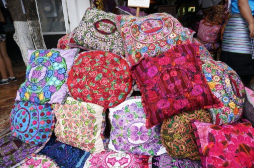 best shopping Playa del Carmen embroidered pillows runners tablecloths