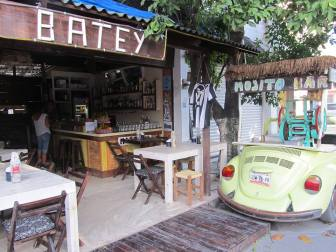Batey's bar and restaurant in Tulum's town. Photo credit: Batey's