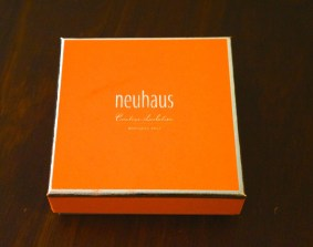 Neuhaus' signature orange gift box.