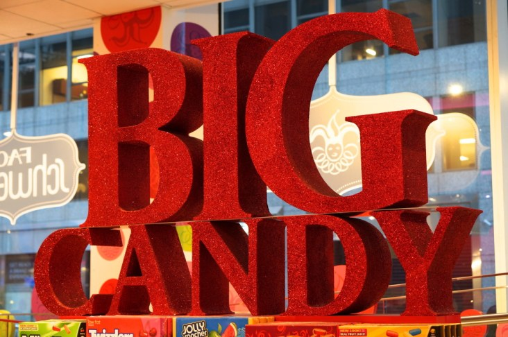 FAO Schwartz NYC toys kids big candy sign