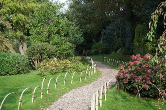 Path to Kyoto Garden, the Japanese garden in Holland Park, London.