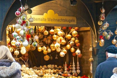 Stephansplatz Christmas Market Vienna Austria stall vendor glass ornaments craft