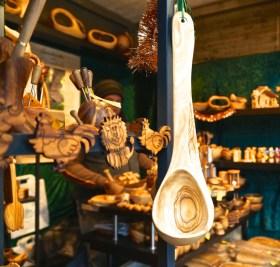 tephansplatz Christmas Market Vienna Austria stall vendor wooden spoon crafts