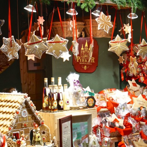 Vienna Austria Spittelberg Christmas Market gingerbread stall