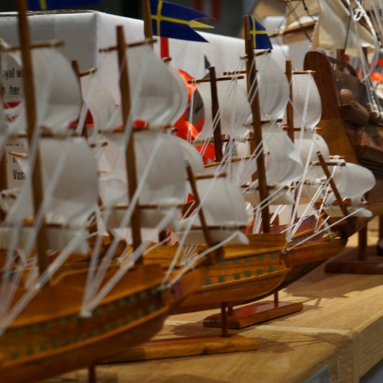 Vasa model ship souvenir (Vasa Museum Gift Shop, Stockholm, Sweden),