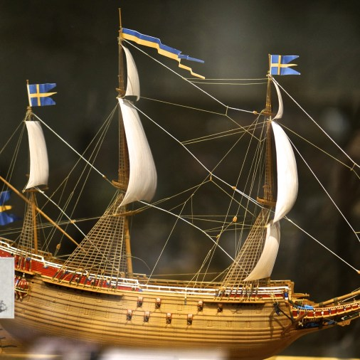 Vasa model ship souvenir Vasa Museum Gift Shop, Stockholm, Sweden