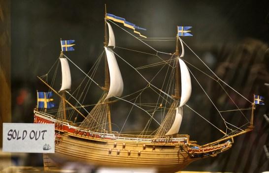 Vasa model ship souvenir Vasa Museum Gift Shop, Stockholm, Sweden