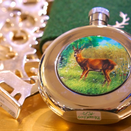 austrian souvenir stag on flask