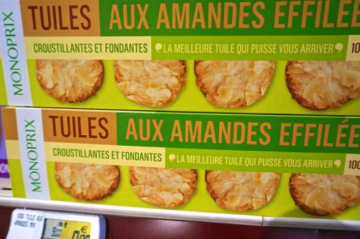 French Supermarket Souvenir Monoprix Almond Cookies