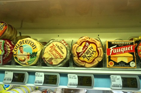 French Supermarket Souvenir Monoprix Cheeses
