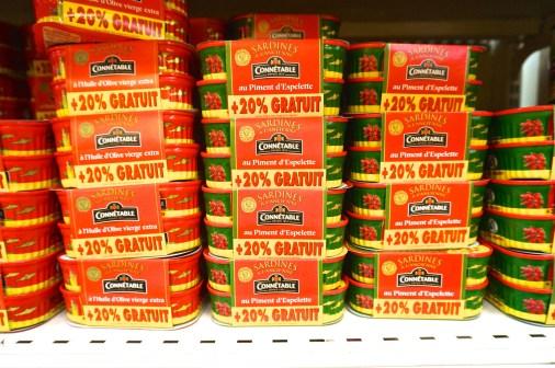 French Supermarket Souvenir Monoprix Sardines Display