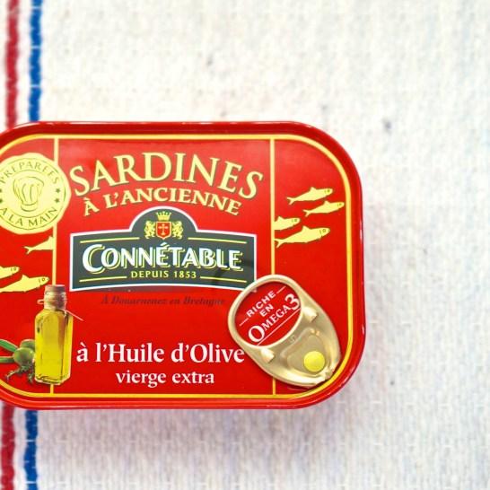 French Supermarket Souvenir Monoprix Sardines Tin