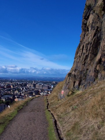 Arthur's Seat, Edinburgh Scotland walk hike view