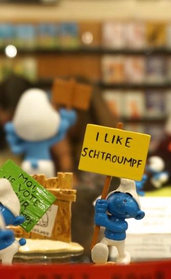 Smurf figurines (Brussels Belgium) - Version 2