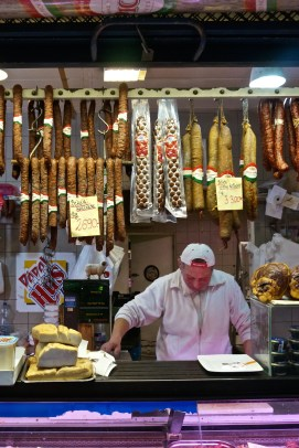 Budapest Central Market Hall Souvenirs Hungarian Sausages
