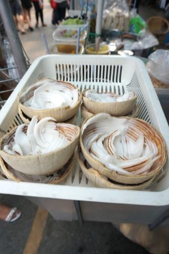 thai coconut fresh ice cream in shell jj market chatuchak