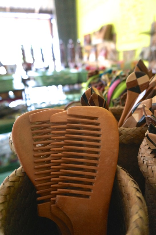 Hand-carved wooden combs would look elegant on a vanity.