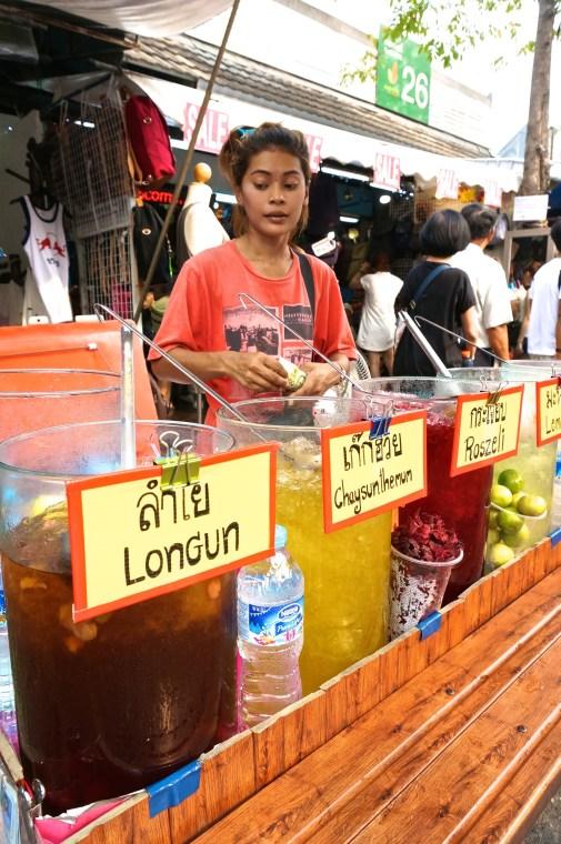 Fresh Thai Fruit Flavor Water Street Vendor