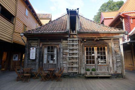 An historic restaurant in the Bryggen, Tracteursted Bergen