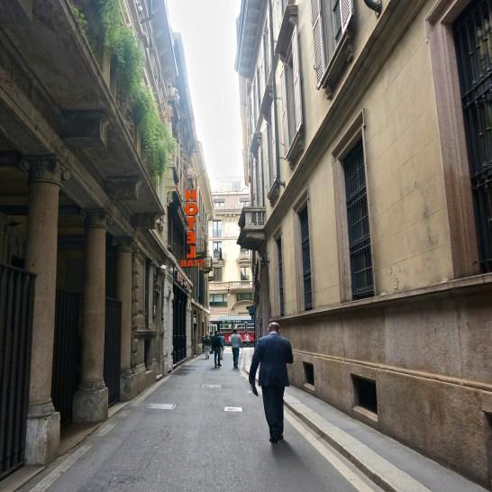 milan romantic backstreets alley