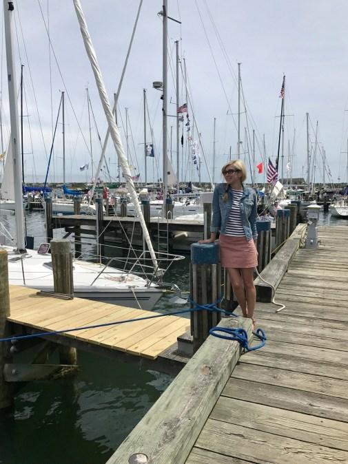 Head to Nantucket's historic harbor for sailboat views.