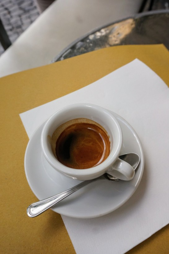 The perfect espresso at Monti's La Bottega del Caffè